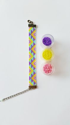 off loom beading techniques Loom Bracelet Patterns, Seed Bead Patterns, Bead Loom Bracelets, Beaded Jewelry Patterns, Beading Patterns, Handmade Bracelets, Handmade Jewelry, Etsy Handmade, Handmade Gifts