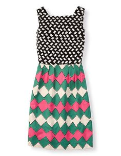 Mixed Print Dress WH788 Day Dresses at Boden