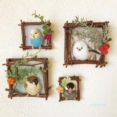 Twig frame #handmade #needlefelting #felting #pet #brooches