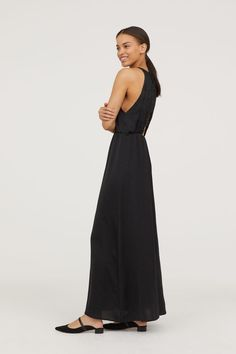 Długa sukienka z koronką - Czarny - ONA | H&M PL 1