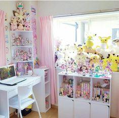 Young chic and social i want a kawaii room room inspiration Girl Bedroom Designs, Room Ideas Bedroom, Bedroom Decor, Cute Room Ideas, Cute Room Decor, Pokemon Room, Kawaii Bedroom, Pastel Room, Gaming Room Setup