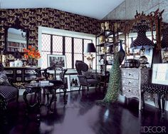 Fashion Designer Homes: Anna Sui's Funky Study.