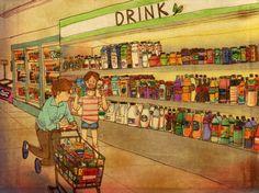 Liebe ist, im Supermarkt nicht zu streiten.