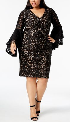 45 Plus Size Wedding Guest Dresses {with Sleeves} Alexa Webb - Plus Size Wedding Guest Dresses - Ideas of Plus Size Wedding Guest Dresses Plus Size Wedding Guest Dresses, Plus Size Cocktail Dresses, Dress Plus Size, Plus Size Outfits, Dressy Dresses, Fall Dresses, Plus Size Clothing Stores, Plus Size Kleidung, Silhouette
