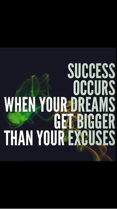 Excuses simply don't cut it ..