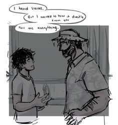 Poseidon listening to Percy and trusting his word about Kronos because he is his favorite son (his words, not mine) :))