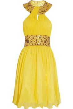 Opulence England Embellished chiffon dress - 0% Off Now at THE OUTNET $230.00