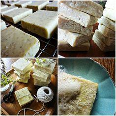Handmade Soap Tutorial. Oatmeal coconut oil olive oil