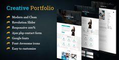 cool Inventive Business enterprise Portfolio/Resum HTML Template (Portfolio)
