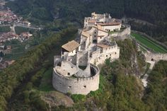 Beseno Castle, Besenello, Italy. Castel Beseno is the largest feudal fortress all over the Trentino region.