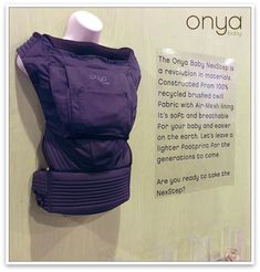 IT'S PURPLE!! The Onya Baby NexStep baby carrier is eco-conscious! Made from recycled brushed twill, it's soft on the planet and your baby. #wearthemOnya #OnyaBabyNextstep #ecofriendlybabycarrier