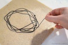 embedding materials in handmade paper, tutorial