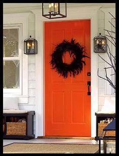 My front door..someday...orange, year round!