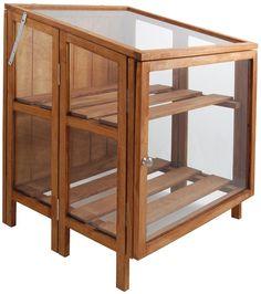Esschert design - serre pliable en bois fsc et en verre: Amazon.fr: Jardin