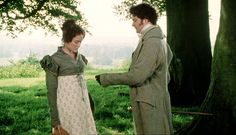 """Colin Firth and Jennifer Ehle as Mr. Fitzwilliam Darcy and Miss Elizabeth Bennet, from BBC's """"Pride And Prejudice"""" (1995)."""