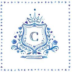 Royal blue crest for a royal | Custom Monograms Crests | Heraldry | Designs for Weddings | Dinnerware | China