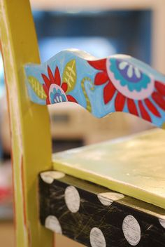 colorful painted chair