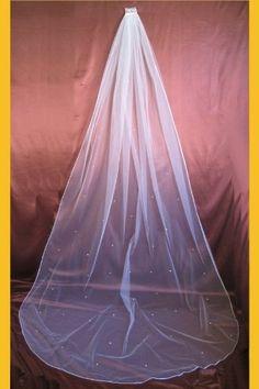 Wedding Veil Bridal 1 Tier Diamond Off White Cathedral Pearl Satin Rattail Edge by Delicate Spirits, http://www.amazon.com/dp/B0063KE4NU/ref=cm_sw_r_pi_dp_yzIssb0R7V44N