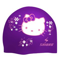 SHIBRO Gorra de Silicón Kitty Morada Trajes De Baño f4e8e24ded9