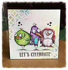 Ideas Angry Bird Crafts Tim Holtz For 2019 Crazy Bird, Crazy Dog, Crazy Cats, Crazy Animals, Card Making Inspiration, Making Ideas, Tim Holtz Stamps, Paper Birds, Dog Cards