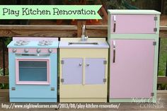 18 AMAZING DIY Play Kitchens!