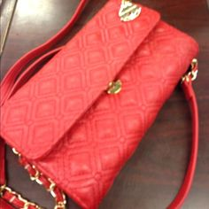 Big Buddha Quilted Very cool quilted clutch/wallet with Crossbody strap. Love it! Big Buddha Bags Clutches & Wristlets
