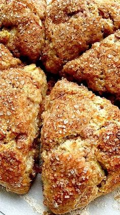 Fresh Apple Cinnamon Scones - Flourish - King Arthur Flour - includes instructions on how to make the scones ahead and freeze them Brunch Recipes, Appetizer Recipes, Breakfast Recipes, Dessert Recipes, Apple Recipes, Sweet Recipes, Baking Recipes, Scone Recipes, Breakfast
