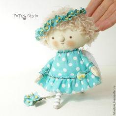 Купить Ангел Незабудка Кукла текстильная День Ангела подарок - ангел, ангелочки, ангелы