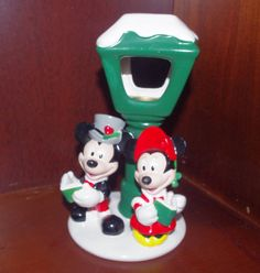 Adorable Vintage Mickey Minnie Mouse Christmas Votive by 2BEB, $30.00