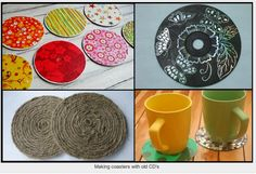 Old CD's or DVD's - everyone has bunches that are scratched up. Now you know what to do with them!