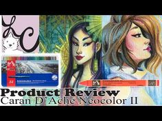 Today I am doing a demonstration using Caran D'Ache NEOCOLOR II watersoluable crayons! Crayon Drawings, Art Tutor, Caran D'ache, Space Backgrounds, Speed Paint, Product Review, Prismacolor, Journal Pages, Dog Supplies
