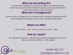 Looking for Automotive jobs and Engineering positions within the UK or Europe? Or are you an employer searching for talented automotive, engineering or industrial staff? With over 120 years of industry knowledge, spanned across our team, Glen Callum Associates is the recruitment agency of trust. #autojobs #automotivejobs #ukjobs #automotiveaftermarket #automotivejobs #jobvacancy #carjobs #automotiveaftermarketjobs #glencallumassociates #jobsintheuk #jobsintheautomotiveindustry