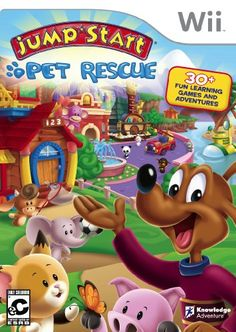 Buy Jumpstart Pet Rescue Nintendo Wii New Sealed at online store Street Game, Fun Games For Kids, Wii Games, Preschool Games, Game Sales, Birthday Wishlist, Losing A Pet, Video Game Console, Fun Learning