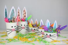 EASTER CRAFT FOR KIDS | Grab the kids! It's time to make these adorable Bunny Cups for Easter!
