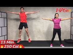 15 Min Cardio HIIT Home Workout without Equipment for Fat Loss & Strength Training Exercises Routine - YouTube
