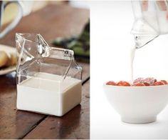 cute glass milk carton.