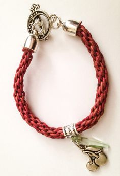 Kumihimo braid- one colour and might be leather cord