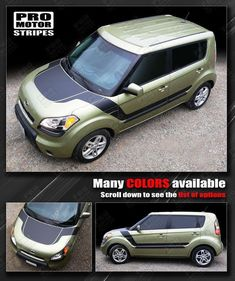 Choose Color For KIA SOUL 2008-2013 Top Rear Quarter Side Accent Stripes Decal