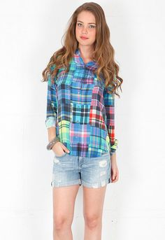 Equipment Colorwheel Signature Blouse in Multi  $318