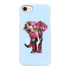 Floral elephant - iPhone 7 Case And Cover (€23) ❤ liked on Polyvore featuring accessories, tech accessories, iphone case, floral iphone case, elephant print iphone case, iphone cases, elephant iphone case and slim iphone case