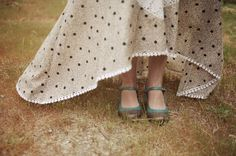 polka dot dress. love this whole wedding!