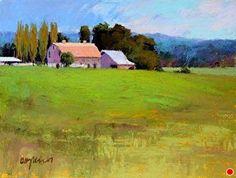Rain Break by Susan Ogilvie Pastel ~ 12 x 16