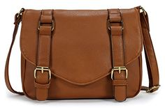 Scarleton Decorative Front Belt Crossbody Bag H172504  Brown ** Learn more by visiting the image link.