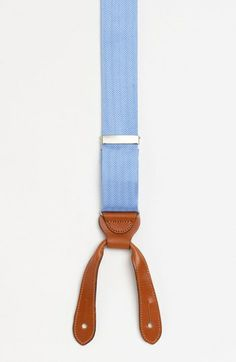What about if we did an ivory shirt with these instead of the blue?! Trafalgar Herringbone Suspenders | Nordstrom
