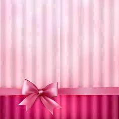 Fundo rosa listrado com Bow