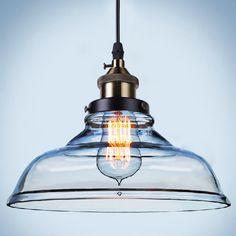 Vintage Pendentif En Verre Lumières Hanglamp Luminaires Rétro Industrielle Pendentif Lampe Loft Lamparas Colgantes 110 v 220 v E27 Ampoule