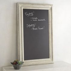 There's nothing we love more than stylish decor that also works hard. Our chalkboard framed in hand-painted whitewashed fir, for instance. Its generous size makes it perfect for leaving a message—even a lengthy one—for your loved ones before you head out the door.