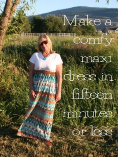 Easy DIY Maxi T Shirt Dress Tutorial - she has some other rather easy tutorials as well