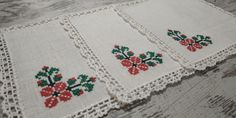 Crochet Table Runner, Crochet Tablecloth, Cloth Napkins, Bohemian Rug, Cross Stitch, Delicate, Colours, Shapes, Scalloped Edge