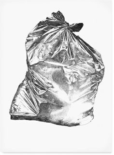 really a trash bag in silver!